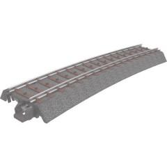 H0 C (con massicciata) Binario curvo 15 ° 515 mm