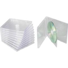 Contenitore per CD 2 CD/DVD/Blu-ray Plastica Trasparente 10 pz.