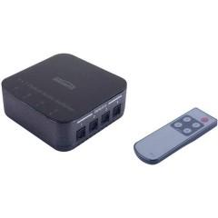 4 Porte Switch Toslink TS 41 Con telecomando N/A Nero