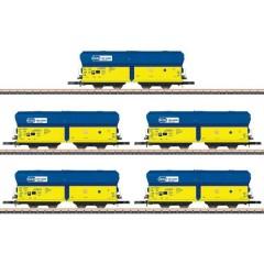 Vagone merci Falns trasporto di carbone della PKP, kit da 5