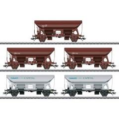 Vagone autoscarica FCS delle Ferrovie dello Stato del Lussemburgo (CFL), kit da 5 pz