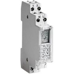 Temporizzatore digitale 3500 W IP40 Riserva di carica, Cambio automatico ora solare/legale, Funzione di