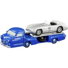 H0 Mercedes Benz Furgone da corsa il miracolo blu + 300 SLR Roadster