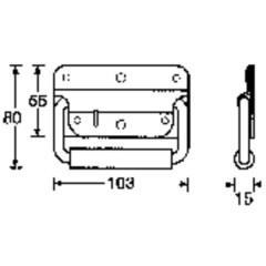 Maniglia per flight case Acciaio (L x L x A) 103 x 80 x 15 mm
