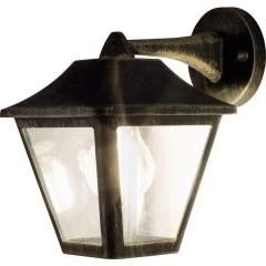 ENDURA® CLASSIC TRADITIONAL ALU L Lampada da parete per esterno LED (monocolore) E27 Nero, Oro