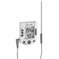Termometro da cucina Temperatura forno e nucleo, con touch screen, con temporizzatore, Allarme