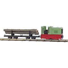 H0f starter kit ferrovia Trasporto legno