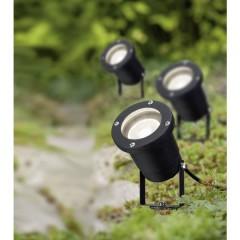 Faretto da giardino Kit da 3 LED (monocolore) GU10 10.5 W Nero
