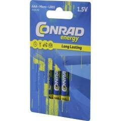 LR03 Batteria Ministilo (AAA) Alcalina/manganese 1300 mAh 1.5 V 4 pz.
