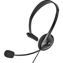 Cuffia telefonica Jack 2,5 mmPiedinatura speciale Filo, MonoCuffia On EarNero