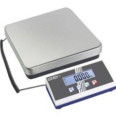Bilancia pesa pacchi Portata max. 35 kg Risoluzione 10 g rete elettrica, a batteria Argento