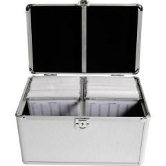 Valigetta per CD 200 CD/DVD/Blu-ray Alluminio Argento 1 pz. (L x A x P) 301 x 180 x 190 mm