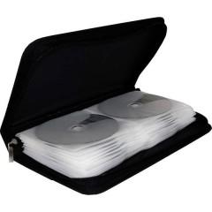 Custodia per CD 48 CD/DVD/Blu-ray Nylon Nero 1 pz. (L x A x P) 289 x 49 x 161 mm