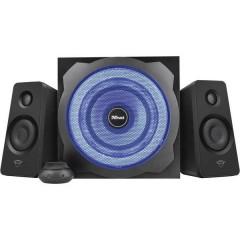 GXT 628 2.1 Tytan LED 2.1 Altoparlante per PC Cablato 120 W Nero, Blu