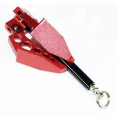 1:10 Gancio alluminio Rosso Cromo, Nero PER MODELLISMO