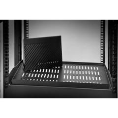 19 pollici Ripiano porta apparecchi per armadio rack 1 U Adatto per profondità armadio: da 400 mm
