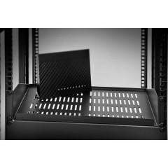 19 pollici Ripiano porta apparecchi per armadio rack 2 U Adatto per profondità armadio: da 400 mm