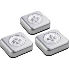Lampada portatile Kit da 3 LED (monocolore) Argento