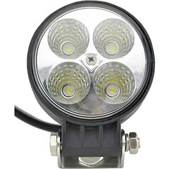 Faro da lavoro 12 V, 24 V 12 W Illuminazione da vicino (Ø x A) 84 mm x 111 mm 600 lm 6000 K