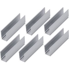 Neon Sistema dilluminazione Plug&Shine Clip di montaggio Kit da 6 Bianco