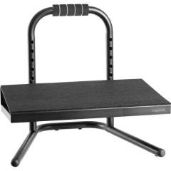 Poggiapiedi (L x P) 400 mm x 339 mm ergonomica, Regolabile in altezza, con rivestimento in schiuma Nero