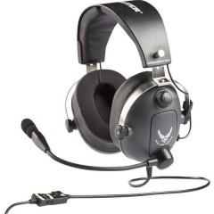 Cuffia Headset per Gaming Jack 3,5 mm Filo Cuffia Over Ear Grigio, Metallico