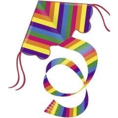 Monofilo Aquilone statico Rainbow Larghezza estensione 970 mm Intensità del vento 3 - 6 bft