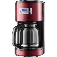Macchina per il caffè Rosso (metallico), Nero, acciaio inox Capacità tazze=12 Display, funzione timer