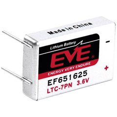 EF651625 Batteria speciale LTC-7PN terminali a saldare a U Litio 3.6 V 750 mAh 1 pz.
