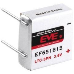 EF651615 Batteria speciale LTC-3PN terminali a saldare a U Litio 3.6 V 400 mAh 1 pz.