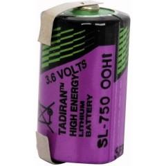 SL 750 T Batteria speciale 1/2 AA linguette a saldare a U Litio 3.6 V 1100 mAh 1 pz.