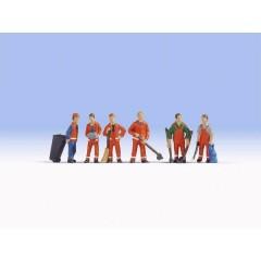 Personaggi in scala TT pulizia città
