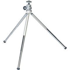 Multi-Level Stativo da tavolo 1/4 pollice Altezza operativa=9 - 27.5 cm Argento Testa a sfera