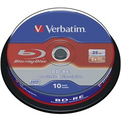 Blu-ray BD-RE vergine 25 GB 10 pz. Torre