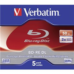Blu-ray BD-RE DL vergine 50 GB 5 pz. Jewel case