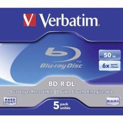 Blu-ray BD-R DL vergine 50 GB 5 pz. Jewel case