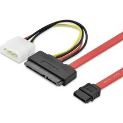 Cavo Hard Disk [1x Spina combinata SATA 7+15 poli - 1x Spina SATA a 7 poli, Presa alimentazione IDE a 4 poli] 0.50