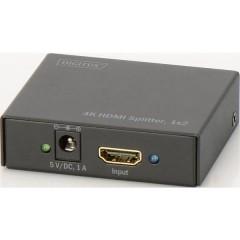 2 Porte Distributore, splitter HDMI Predisposto alla riproduzione 3D, Contenitore in metallo 4096 x
