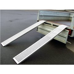 Auffahrrampe Alu 150 cm / 400 kg Rampa 400 kg Alluminio 150 mm x 21.5 mm x 3.5 cm