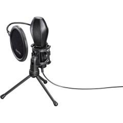 MIC-USB Stream Microfono per PC Nero Cablato