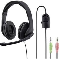 HS-P200 Cuffia Headset per PC Jack 3,5 mm Stereo, Filo Cuffia Over Ear Nero