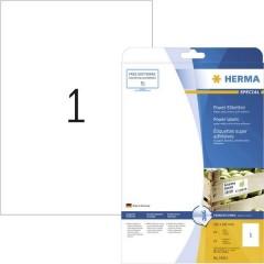 Etichette 210 x 297 mm Carta Bianco 25 pz. Permanente Etichetta super resistente, Etichetta universale
