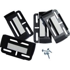 Simple-Fix Plastica Porta targa Nero