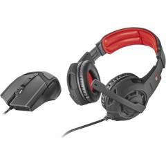 GXT 784 Cuffia Headset per Gaming Jack 3,5 mm Filo Cuffia Over Ear Nero