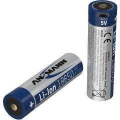 18650-2,6-Micro-USB Batteria ricaricabile speciale 18650 Li-Ion 3.7 V 2600 mAh