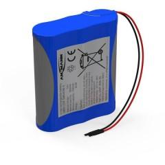 Pacco batteria 3x 18650 1S3P con cavo Li-Ion 3.7 V 7800 mAh