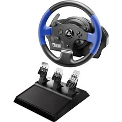 T150 Pro Force Feedback + T3PA Volante USB 2.0 PlayStation 3, PlayStation 4, PC Nero, Blu incl. Pedale