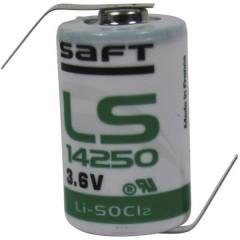 LS 14250 HBG Batteria speciale 1/2 AA linguette a saldare a Z Litio 3.6 V 1200 mAh 1 pz.