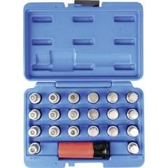Set di chiavi per lucchetto per cerchione, 21 pezzi, in valigetta