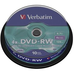 DVD-RW vergine 4.7 GB 10 pz. Torre riscrivibile